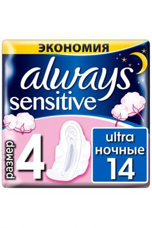 Прокладки Always Найт, 14 шт. Цвет: none