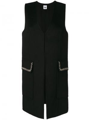 Stud embellished tailored waistcoat Twin-Set. Цвет: чёрный