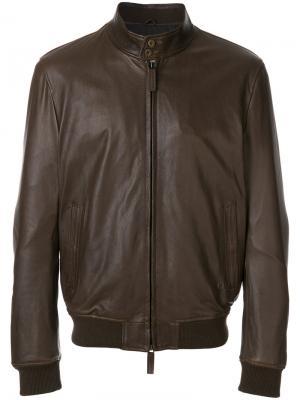 Куртка в стиле бомбер Jeckerson. Цвет: коричневый