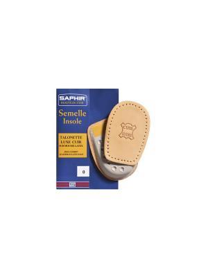 Подпяточник ортопедический Semelle Insolle, Talonnette Luxe Cuir Saphir. Цвет: коричневый