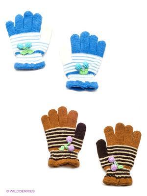 Перчатки, 2 пары FOMAS. Цвет: синий, коричневый, белый