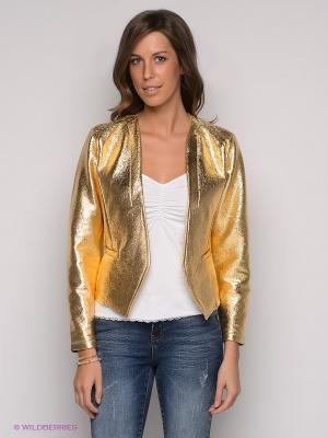 Жакет Vero moda. Цвет: золотистый