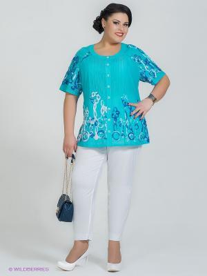 Блузка Silver-String. Цвет: голубой