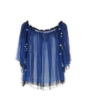Блузка POUPETTE ST BARTH. Цвет: синий