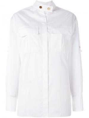 Рубашка с воротником-стойкой Alexandre Vauthier. Цвет: белый