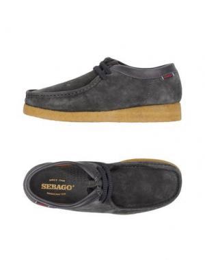 Обувь на шнурках SEBAGO. Цвет: серый