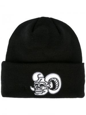 Шапка-бини Skull KTZ. Цвет: чёрный
