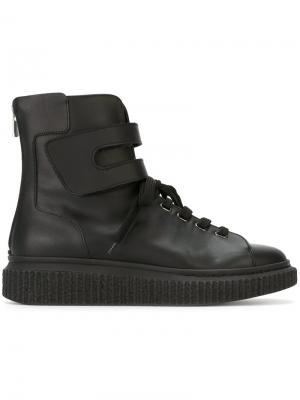 Ботинки со шнуровкой Officine Creative. Цвет: чёрный
