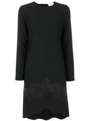 Платье с атласной окантовкой Carven. Цвет: чёрный