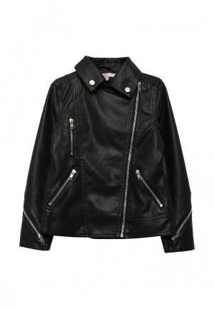 Куртка кожаная Modis. Цвет: черный
