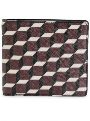 Бумажник с геометрическим принтом Pierre Hardy. Цвет: многоцветный