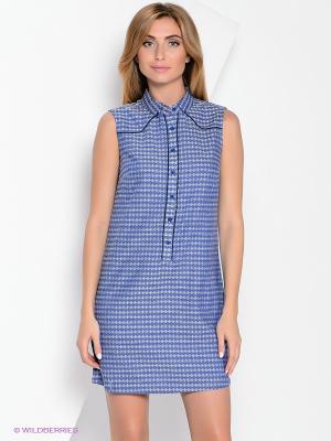 Платье Yuka. Цвет: синий