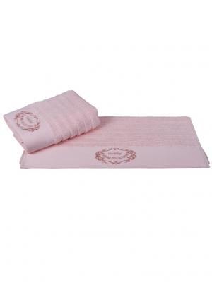 Махровое полотенце 50x90 ZAFIRA персиковое,100% хлопок HOBBY HOME COLLECTION. Цвет: персиковый