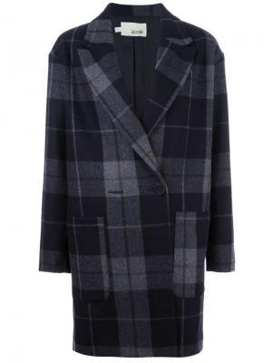Пальто в клетку Cotélac. Цвет: серый