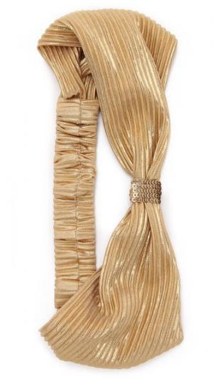 Обруч-тюрбан с добавлением металлизированной нити Namrata Joshipura. Цвет: коричневый