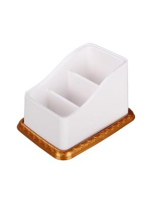 Подставка под столовые приборы Каскад (бело-золот.) Альтернатива. Цвет: белый, золотистый
