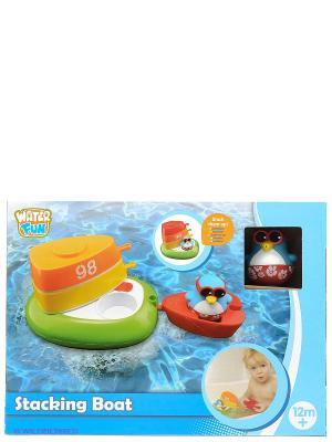Набор для ванны Лодка с шлюпками Toy Target. Цвет: голубой