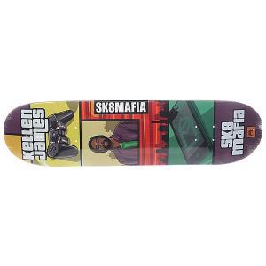 Дека для скейтборда  James Gamer 32 Multi x 8.0 (20.3 см) Sk8mafia. Цвет: мультиколор