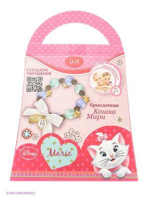 Набор для создания браслетика Кошка Мари Делай с мамой. Цвет: розовый