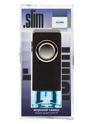 Ароматизатор в дефлектор Slim Морской сквош AZARD. Цвет: черный