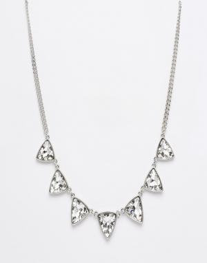 DesignB London Ожерелье с камнями Design B. Цвет: серебряный