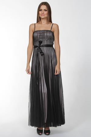 Вечернее платье с поясом Mona Kalin. Цвет: черный, розовый