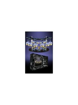 Набор 19 предметов  с барной стойкой Греческий узор Гусь-Хрустальный. Цвет: прозрачный
