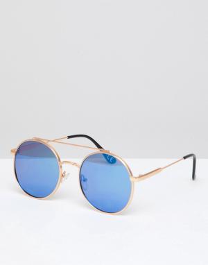 Jeepers Peepers Серебристые солнцезащитные очки в круглой оправе. Цвет: серебряный