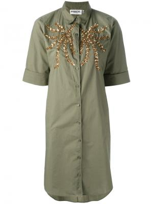 Рубашка Nika Essentiel Antwerp. Цвет: зелёный