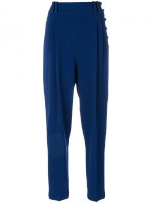 Укороченные брюки со складками 3.1 Phillip Lim. Цвет: синий