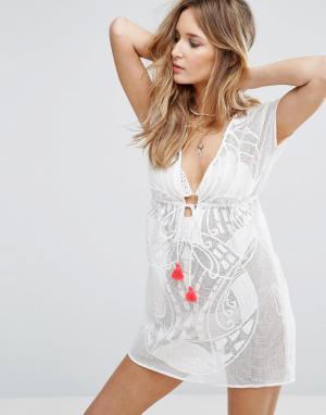 Little White Lies Пляжное платье-накидка Naira. Цвет: белый