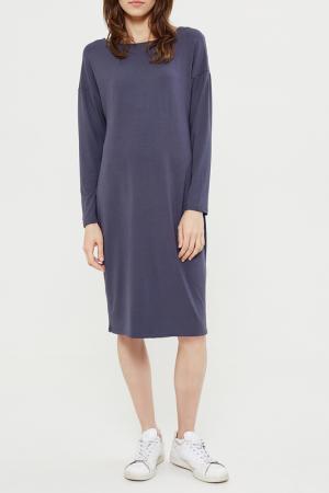 Свободное платье с длинными рукавами Lava. Цвет: темно-серый