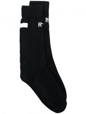Носки с логотипом Rta. Цвет: чёрный