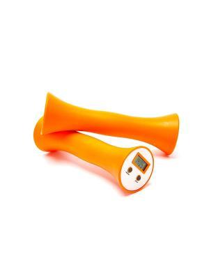 Гантели со счётчиком повторений ИЗИ ФИТНЕС BRADEX. Цвет: оранжевый