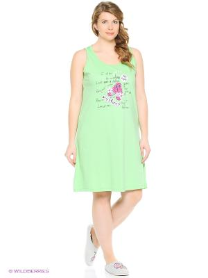 Ночная сорочка Vienetta Secret. Цвет: светло-зеленый