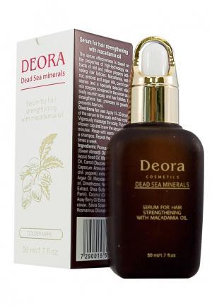 Сыворотка для укрепления волос Deora Cosmetics. Цвет: коричневый