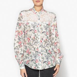 Рубашка с отложным воротником и длинными рукавами THE KOOPLES. Цвет: экрю