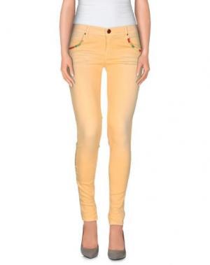 Повседневные брюки 0/ZERO CONSTRUCTION. Цвет: абрикосовый