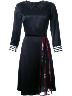 Атласное платье с пайетками Marc Jacobs. Цвет: чёрный