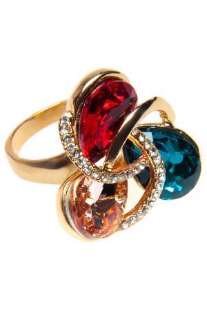 Кольцо BELLA ROSA. Цвет: red, green