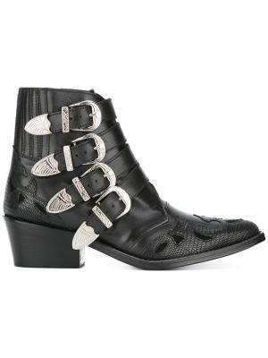 Ботинки с пряжками Toga Pulla. Цвет: чёрный