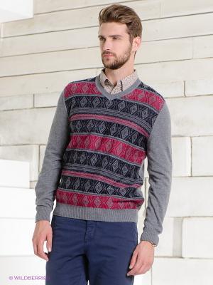 Пуловер TOM FARR. Цвет: темно-серый, малиновый, темно-синий