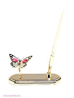 Письменный прибор Бабочка Юнион. Цвет: золотистый
