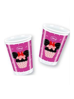 Стаканы пластиковые Микки и его друзья - сладости 180 мл, 8 шт. Procos. Цвет: розовый