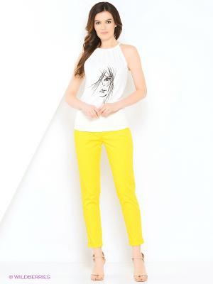 Брюки КАЛIНКА. Цвет: желтый