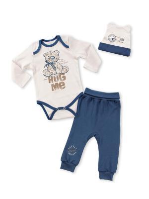 Комплект одежды Апрель. Цвет: синий, бежевый