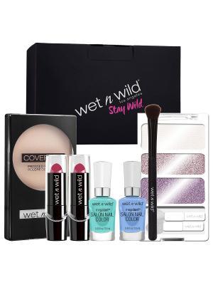Набор в подарочной коробке WET&WILD №159 Wet n Wild. Цвет: черный, лиловый, розовый