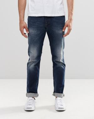Diesel Темные прямые джинсы с выбеленным эффектом Buster 853R. Цвет: синий