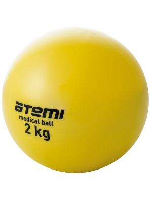 Медицинбол 2 кг Atemi. Цвет: желтый