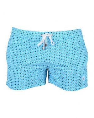 Пляжные брюки и шорты LUIGI BORRELLI NAPOLI. Цвет: бирюзовый